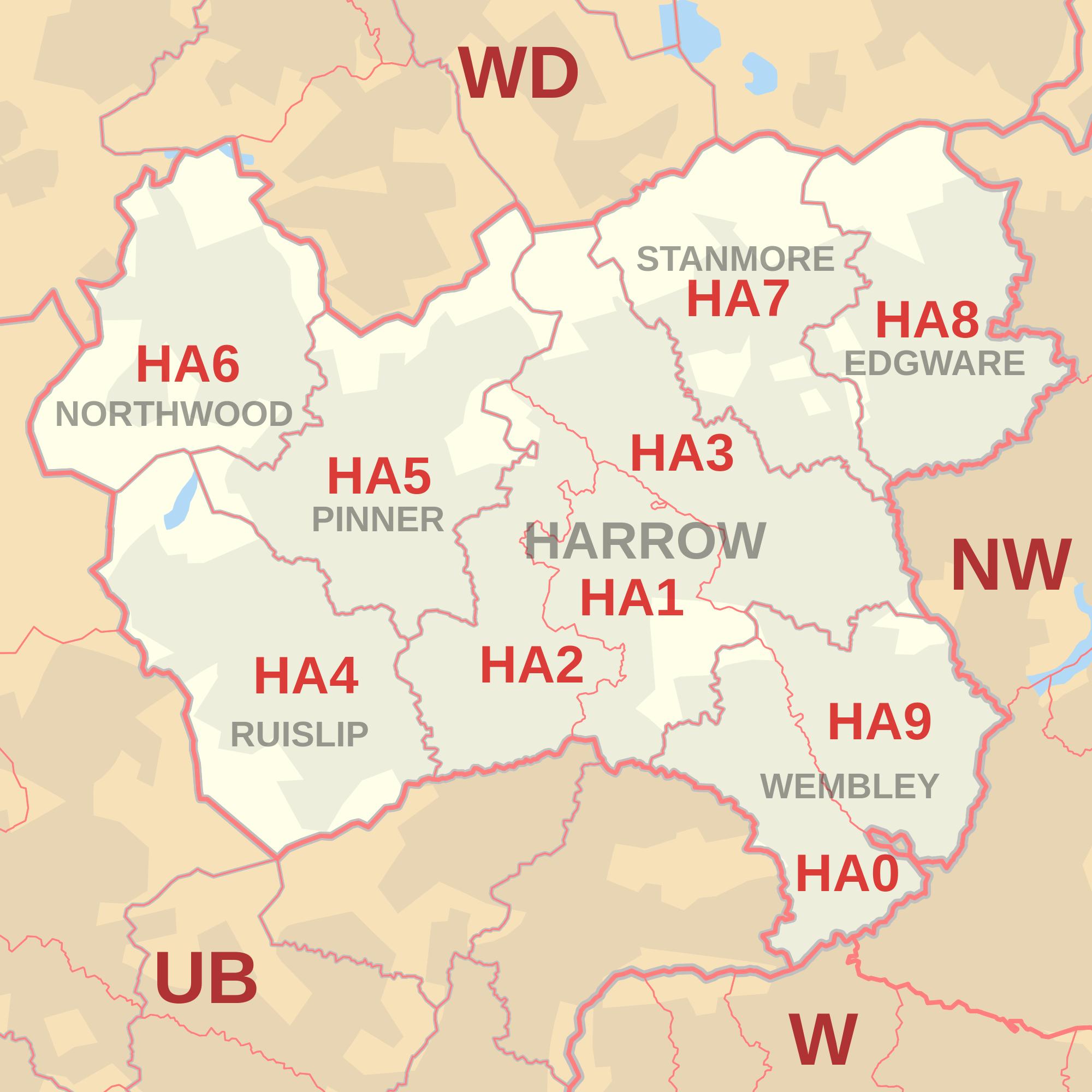 harrow-postcode-area